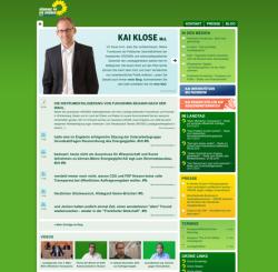 Internetseite von Kai Klose